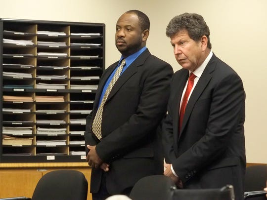 Defendant Kevin Roper, left, and his attorney, David Glassman, appear in Middlesex County Superior Court before Judge Michael Toto. Roper previously pleaded not guilty to aggravated manslaughter and other charges in the killing of comedian Jimmy McNair and critically injuring comedian Tracy Morgan in 2014. Roper, a Georgia resident, was driving a truck for Wal-Mart when he allegedly crashed into the vehicle transporting Morgan and McNair.