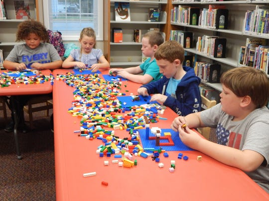 The library has several events each week that encourage kids to express their creativity and think outside the box.