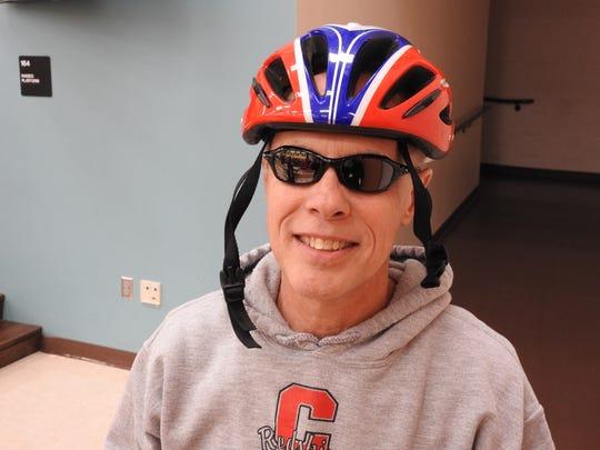 Coshocton Elementary Principal Dave Skelton cools down