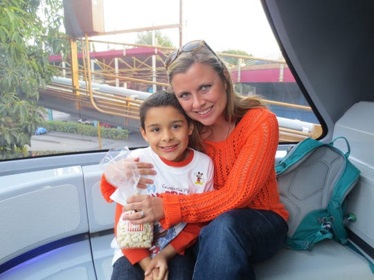Susan Fortson with son Logan Martinez in happier times.