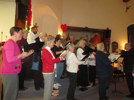 The Candor Community Chorus outdid themselves in the quality of their performance and the four-part harmony in the carol singing on Sunday night at Christ the King Fellowship in Spencer.
