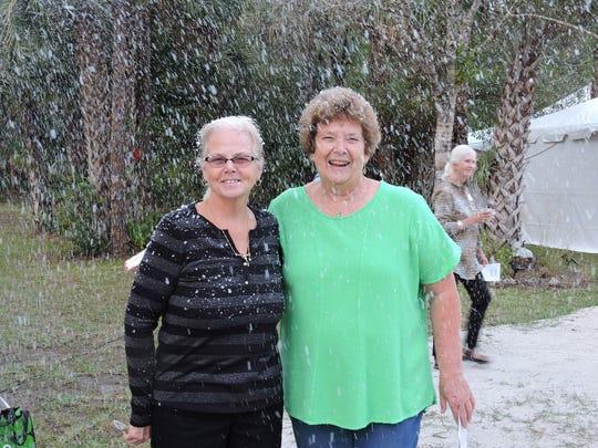 Becky Arnold and Sharyon Daigneau enjoy the snow!