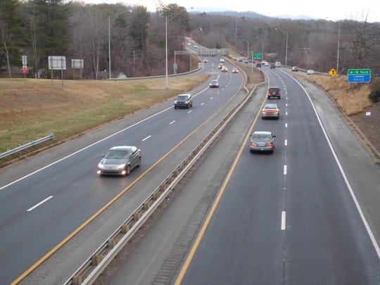 Traffic flows freely on Interstate 240 between Brevard