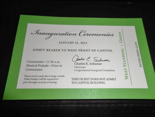 A ticket, good for the standing section, to the 2013