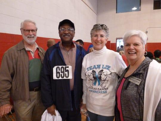Finbarr Saunders, Dan Brown, Ellen Bebb and Deborah Stevens at the YWCA Phyllis Wheatley Center for Diversity Day.