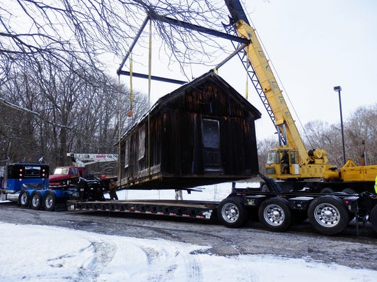 Moving the historic Creedville Post Office/Toll Booth