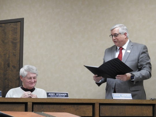 "Coshocton Mayor Steve Mercer gave a ""shout out"" to"