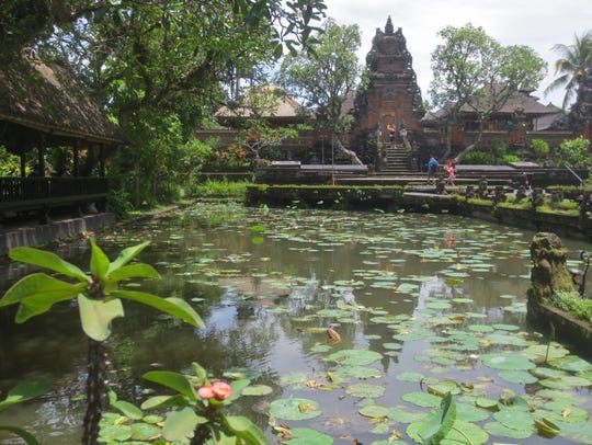 A Hindu temple in Ubud, a town in central Bali that