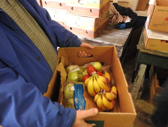 County residents received fresh fruit, vegetables and