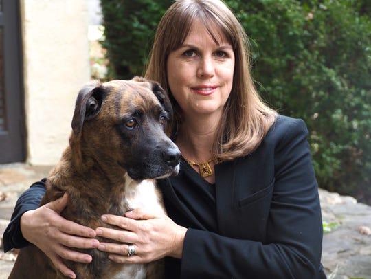 Elizabeth Kostova with her dog, Jacob. A Bulgarian