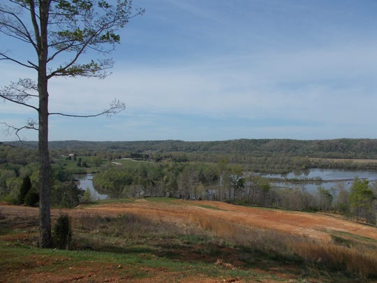 The view on property in Ashland City where a residential