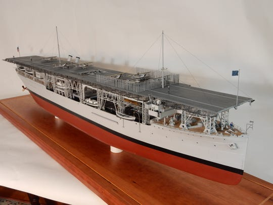 The USS Langley ship model that will soon be headed to the Smithsonian in Washington D.C.