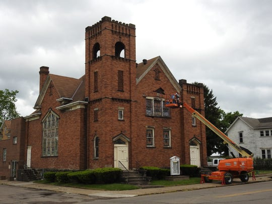 On Tuesday, masons began working on the exterior of Coshocton's Shiloh Missionary Baptist Church, at 404 Seventh St.