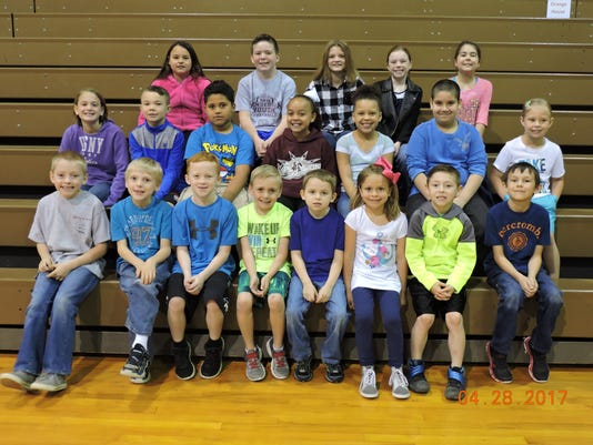 A.B. Chandler Elementary April leaders of the month