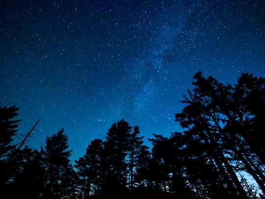 A view of the stars from Great Smoky Mountains National