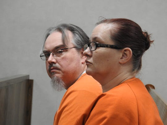 Daniel and Trudy Reeves, of Warsaw, Ohio, await transfer to prison on their felony convictions for tampering with evidence and theft by deception. Authorities say they buried Reeves' grandmother in their rural back yard to continue collecting her Social Security benefits for almost four years after her death.