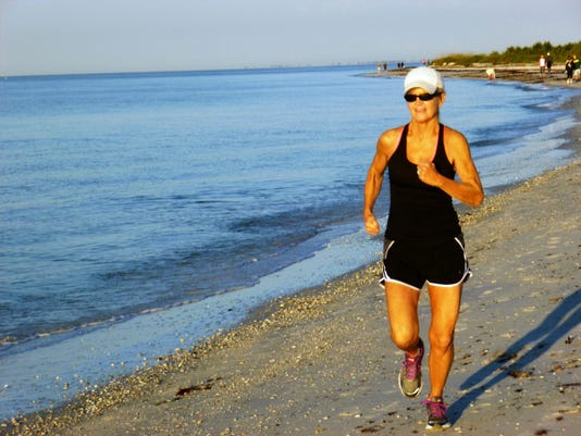 Laurie Herman, running