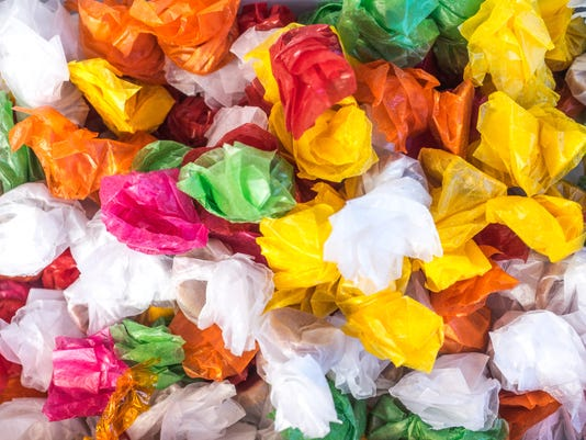 colored candy wrappers