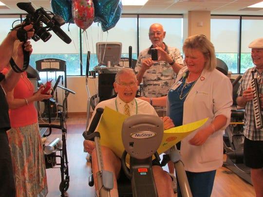 Bill Nash celebrates his 100th birthday.