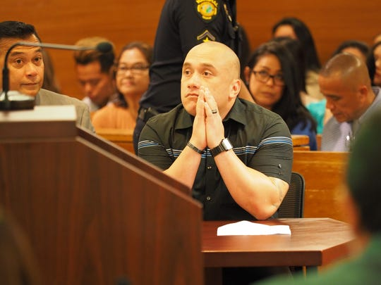 In this June 21, 2017  file photo, Mark Torre Jr. listens during his sentencing hearing at the Superior Court of Guam.