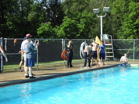 Campers at the Muskingum Valley Scout Reservation Pool