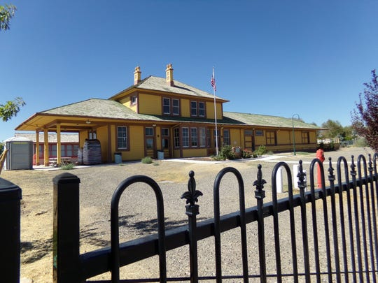Improvements including sewer lines are being made to the historic Fernley Depot.