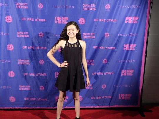 El Paso actress Nadia Renteria poses on the red carpet