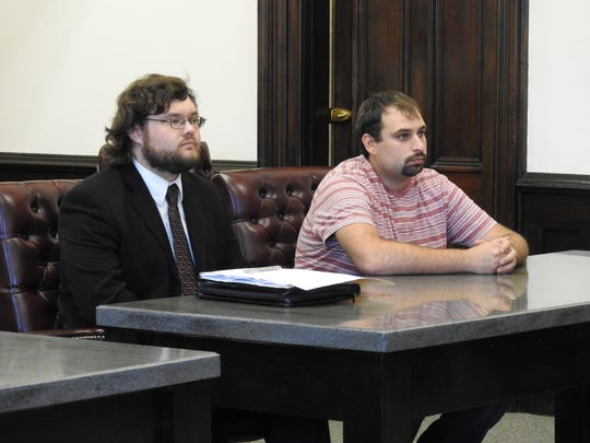 Attorney Kyle Davis represented John Newell Monday in Coshocton County Common Pleas Court. Newell received 180 days in jail for a February vandalism incident.