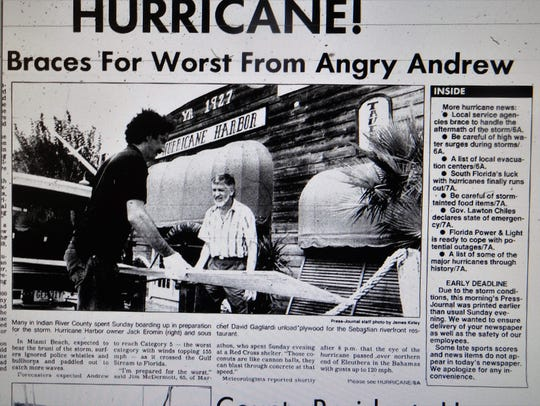 Hurricane Andrew was initially forecast to comes as