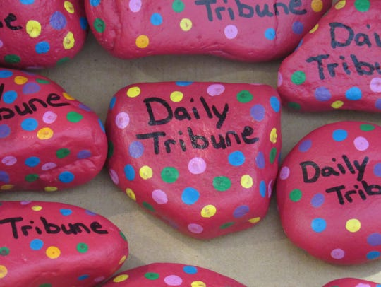 Find a Daily Tribune rock in Wisconsin Rapids.