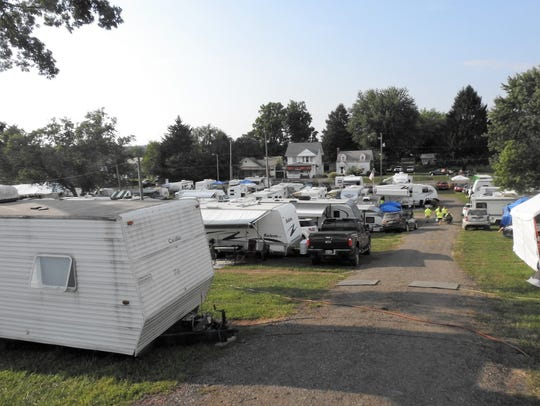 There are 278 campers at the Muskingum County Fair