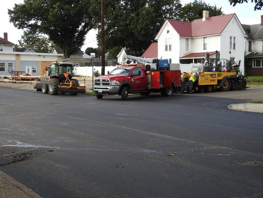The Shelly Co. recently did paving work at Seventh