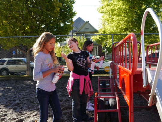 Students and teachers volunteered their time Saturday