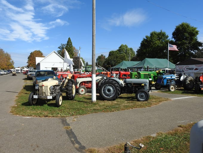 The tractor display Wednesday at the Coshocton County