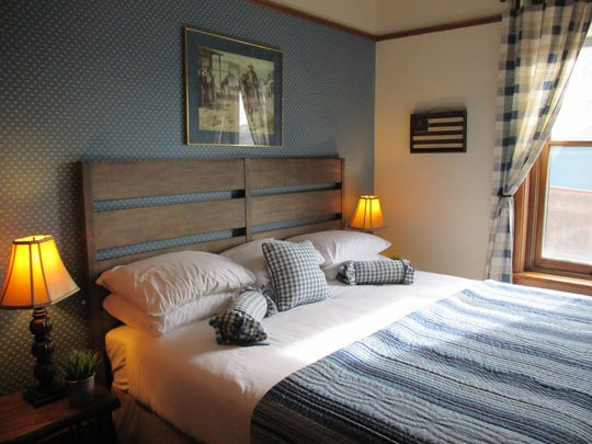 This guest room at Prescott's Hotel Vendome is spirit-free,