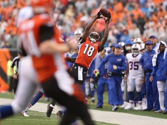 Cincinnati Bengals wide receiver A.J. Green (18) is