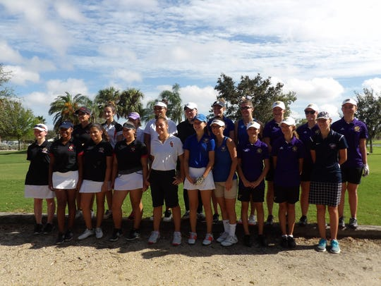 Twenty girls golf players from six St. Lucie County