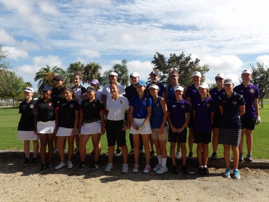 Twenty girls golf players from six St. Lucie County schools competed in the St. Lucie County Girls High School Championship on Saturday, Oct. 7, 2017.