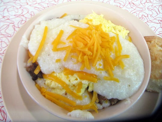 Grits Breakfast Bowl at Bryant's Breakfast. March 4 2015 PHOTO BY MICHAEL DONAHUE