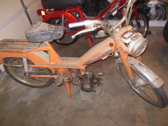 Before: A 1976 Motobecane Moby moped, restored by Rob