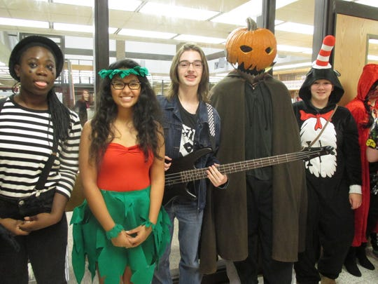 Big kids like to have fun, too! These Spencer-Van Etten High School students enjoyed dressing up last year for the school's annual costume contest.