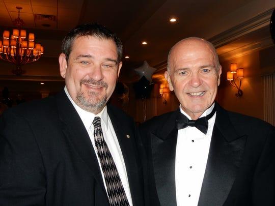 Florida District Exchange Clubs president Mark Dayton with Joe Walsh, president of Exchange Club of the Treasure Coast.