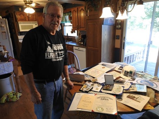 Dave Dilly of Fresno with a variety of memorabilia