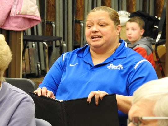 Margie Lee of Zanesville rehearses for the annual Lions Club Minstrel Show. After missing the show last year due to pneumonia, Lee hopes to debut as a soloist this weekend.
