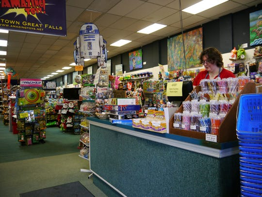 """According to owner Dave Campbell, Amazing Toys is usually """"pretty darn busy"""" on Black Friday weekend, catching the overflow from five a.m. shoppers and taking advantage of Small Business Saturday."""