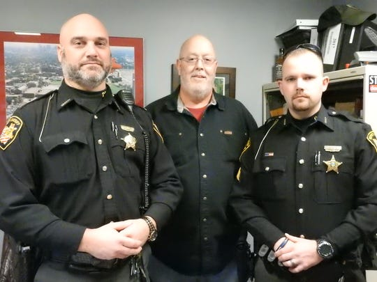 Lt. Dean Hettinger, Dispatcher Mark Dobbins and Sgt. Matt Woitel are participating in the Beards for Bucks campaign to benefit the Salvation Army Christmas Castle. They are expecting to raise approximately $3,500 by allowing employees of the sheriff's office to grow beards from Nov. 1 to March 1.