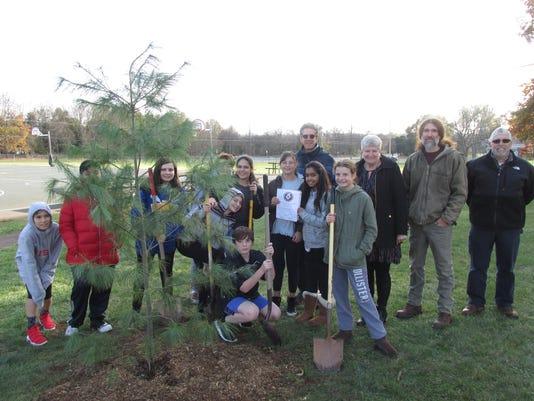 Space tree lands at Readington Middle School PHOTO CAPTION