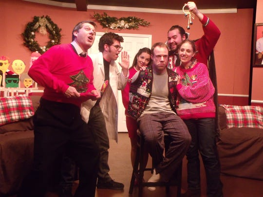 """""""The Kings of Christmas"""" tells an unhinged holiday story written and directed by Doug Schutte, far left."""