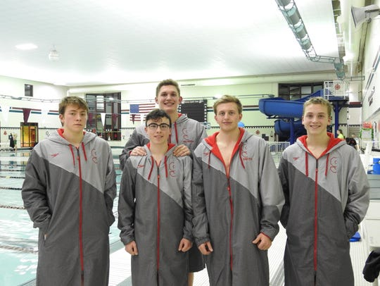 The Sturgeon Bay co-op swim team includes, from left,