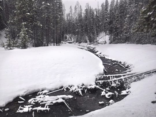Poole Creek is seen in the winter. The creek, with